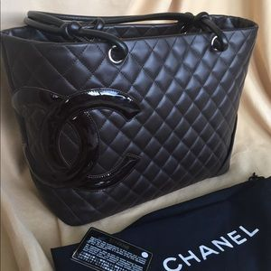 Authentic chanel cambon tote, chocolate brown